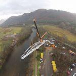 Glen Nevis footbridge installed